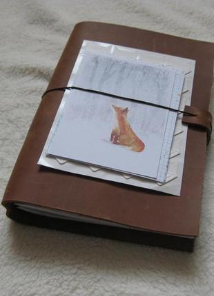 Блокнот из кожи Crazy Horse ручная работа коричневый