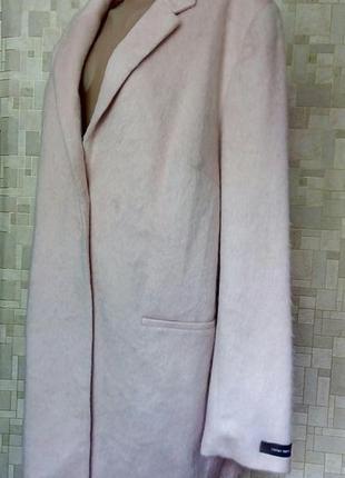 Стильное новое пальто пудрового цвета f&f.