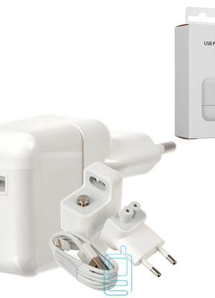 Сетевое зарядное устройство iPad A1401 2in1 1USB 2.4A 12W Lightni