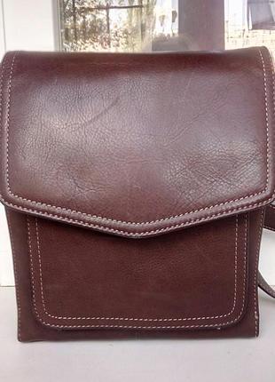 Стильная кожаная сумка-планшет fossil(original)