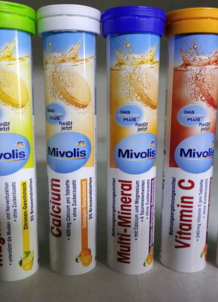 Вітаміни Міволіс.Шипучки.В асорт.