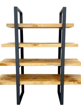 Стеллаж в стиле лофт Loft. 120х120, глубина 40, 31, 22, 11см.