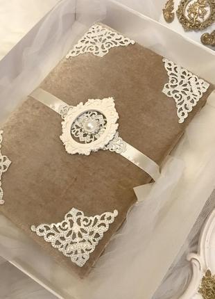 Блокнот в мягкой бархатной обожке ручной работы