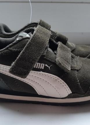 Фирменные  замшевые кроссовки  puma.