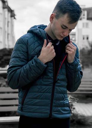 Куртка мужская демисезонная стеганая asos синяя / курточка чол...