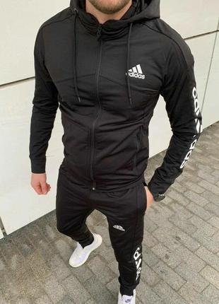 Спортивный костюм мужской adidas черный / комплект чоловічий к...
