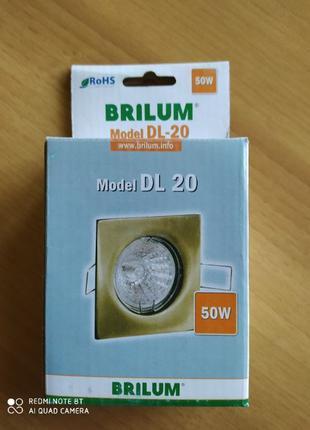 Светильник точечный Brilum DL-20 золото