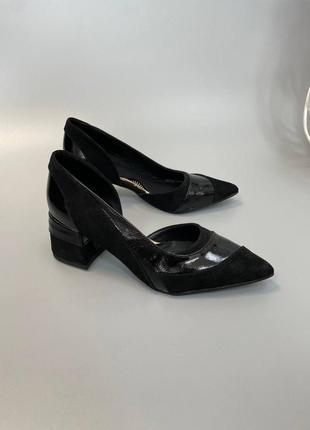 Туфли женские натуральная кожа замша италия
