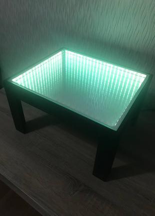 Журнальный столик с туннельным эффектом