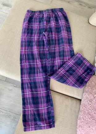 Уютные домашние штаны в клетку french connection