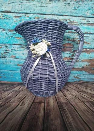 Кувшин-ваза плетеный