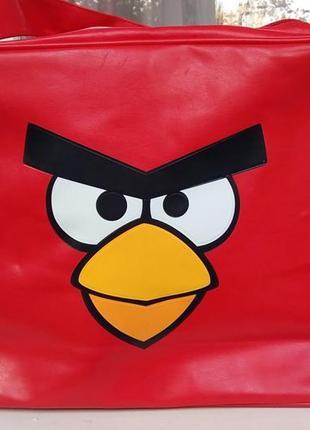 Стильная сумка с принтом-angry birds.