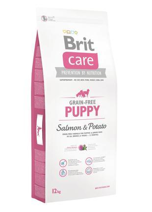 Акция! Сухой корм Brit Care GF Puppy Salmon & Potato 12 кг
