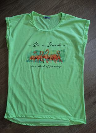 Яскраво-лимонна футболка тм diyamor