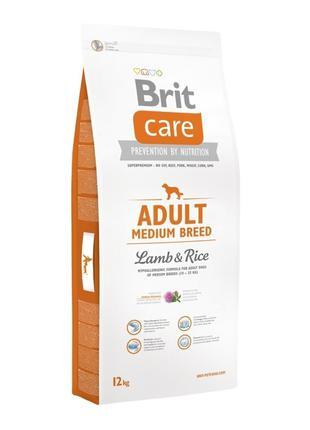 Акция!Сухой корм Brit Care Adult Medium Breed Lamb & Rice 12 кг