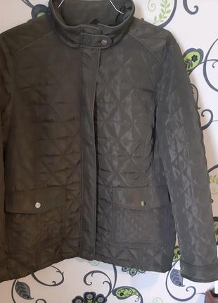 Женская демисезонная куртка хаки 18 размер 52 размер батал