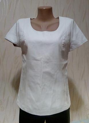 Стильная белая кожаная блуза jane norman(london).