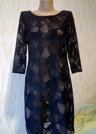 Стильное ажурное платье-туника.