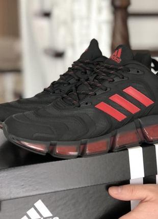 Кроссовки мужские adidas черные красные / кросівки чоловічі...
