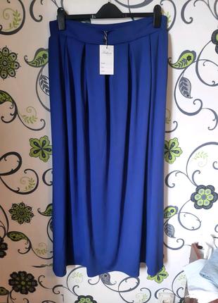 Синяя юбка макси 54 размер батал