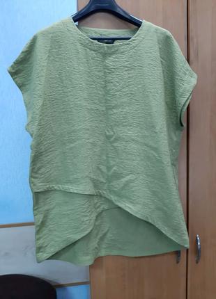 Блузка туника хаки батал 54 размер