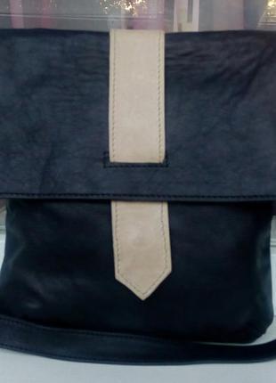 Стильная фирменная кожаная сумка-планшет creacion piel.