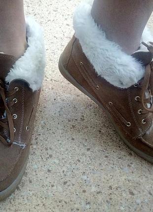Стильные замшевые ботинки на меху river island(италия).