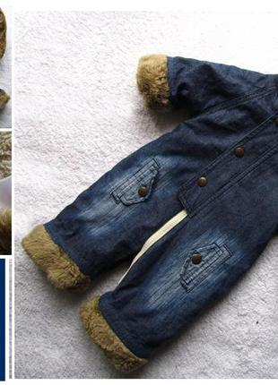 Стильный и теплый джинсовый комбинезон gap