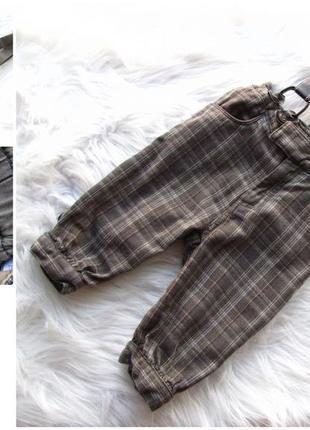 Стильные штаны капри с подтяжками  h&m
