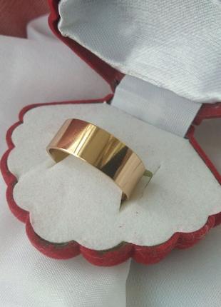 """Обручальное кольцо 8мм из мед золота """"Американка"""""""