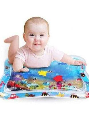 Детский развивающий водный коврик Аквариум, Надувной коврик с ...
