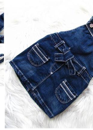 Стильный джинсовый сарафан oboibi.