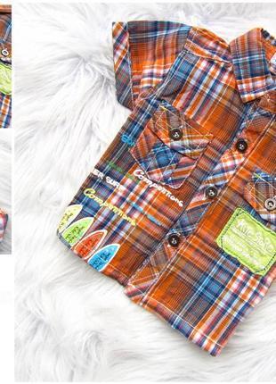 Стильная и качественная рубашка с коротким рукавом tom & kiddy