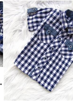 Стильная и качественная рубашка с коротким рукавом george