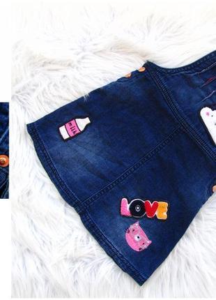 Стильный джинсовый сарафан tu