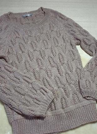 Джемпер фактурой вязки. джемпер . пуловер с круглым вырезом. с...