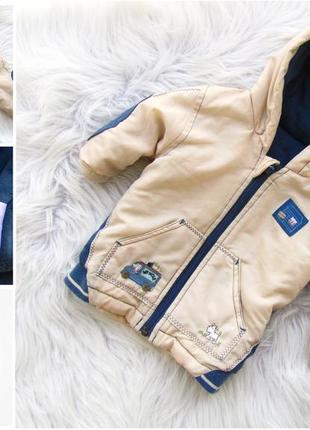 Стильная теплая куртка с капюшоном mothercare