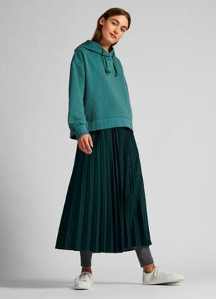 Плиссированная юбка с высокой посадкой uniqlo