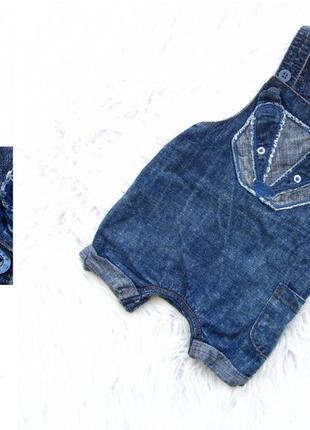 Крутой летний джинсовый полукомбинезон next
