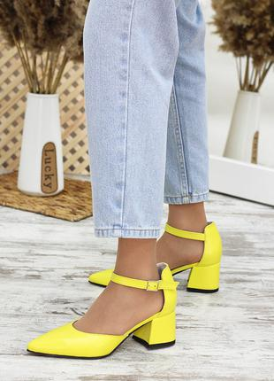 Туфли Mimoza желтая кожа