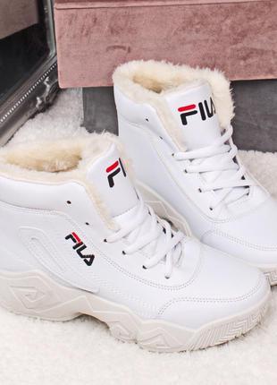 Зимние кроссовки в стиле фила