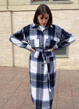 Пальто - рубашка с подстежкой 5387