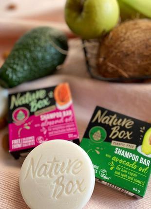 Твердый шампунь nature box натуральная косметика