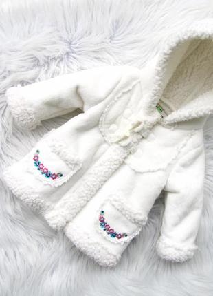 Стильная теплая  шуба дубленка куртка с капюшоном bhs