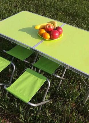 Стол и стулья для пикника Folding Table Зеленый,синий,белый, ор..