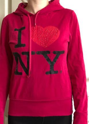 Свитшот кофта женская I love NY New York
