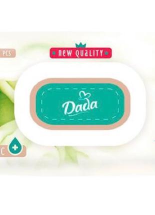 Дитячі вологі серветки Dada з екстрактом алое з клапаном, 72 шт
