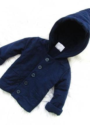 Стильная теплая  кофта реглан пальто   с капюшоном marquise