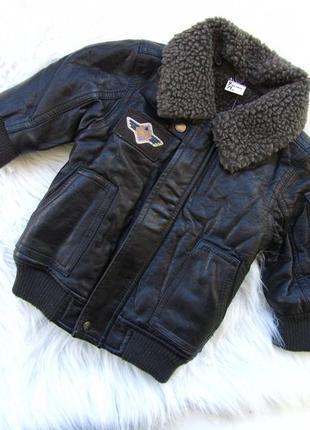 Стильная утепленная кожаная куртка tapealoel