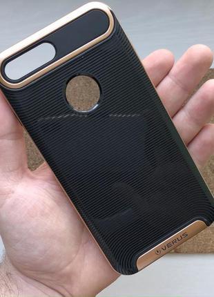 Чехол противоударный золотистый на для айфон iphone 8 + плюс p...